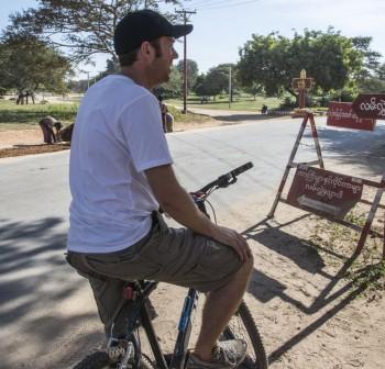 Bike riding in Burma